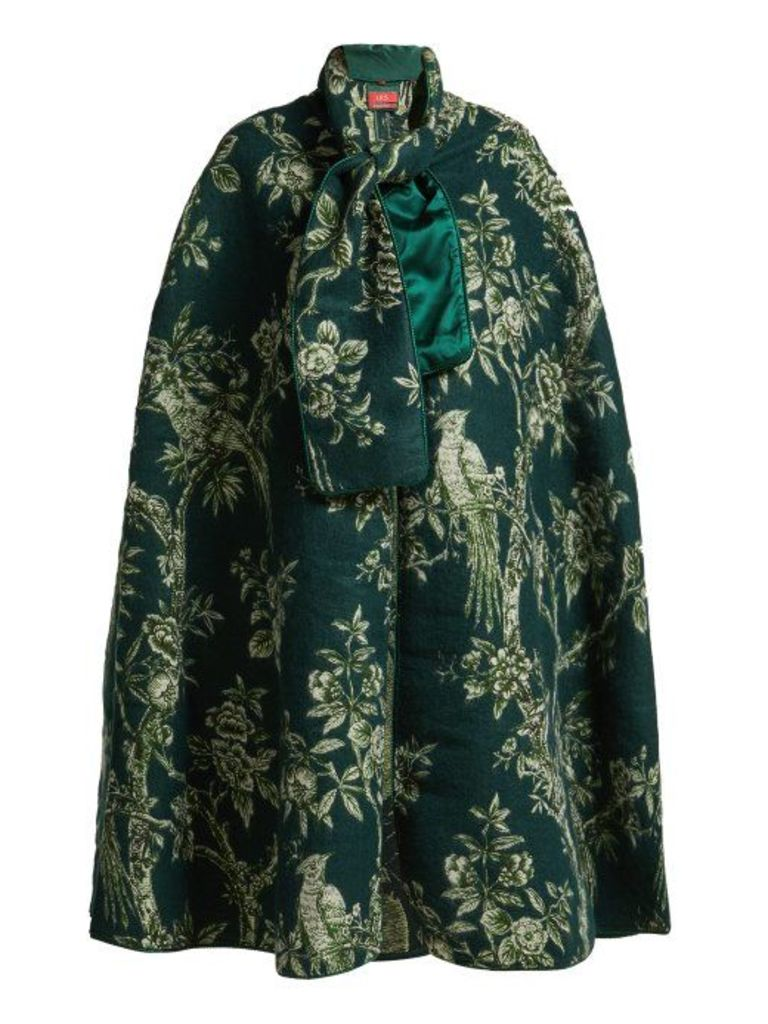 F.r.s - For Restless Sleepers - Kore Ramage Jacquard Cape - Womens - Green Print