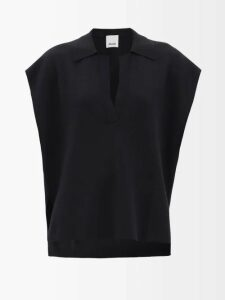 Halpern - Sequin-embellished High-neck Top - Womens - Pink Gold