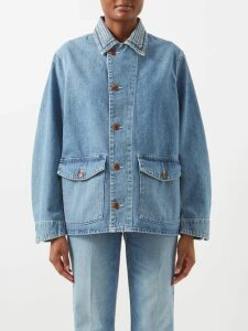 Fendi - High Neck Broderie Anglaise Cotton Blouse - Womens - Black