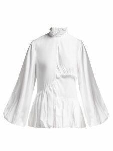 Marques'almeida - Ruffled Woven Blouse - Womens - White