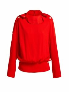 A.w.a.k.e. Mode - Button-trim Ribbed Top - Womens - Red