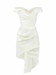 Emilia Wickstead - Sybil Balloon Sleeve Crepe Blouse - Womens - Light Pink