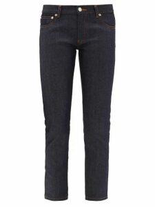 A.p.c. - Etroit Mid-rise Slim-leg Cropped Jeans - Womens - Indigo