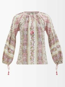 Raey - V-neck Fine-knit Cashmere Sweater - Womens - Nude