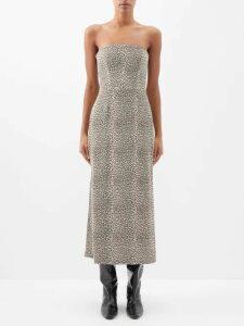 Raey - V Neck Fine Knit Cashmere Sweater - Womens - Dark Khaki