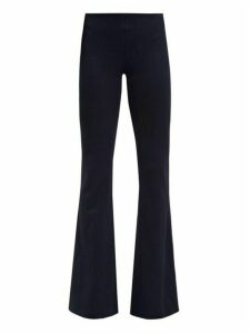 Galvan - Flared Leg Jersey Trousers - Womens - Navy