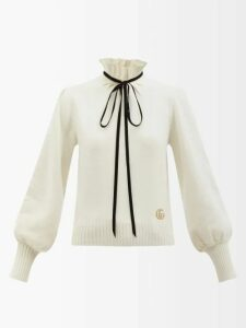 Vika Gazinskaya - Puff-sleeved Striped Organza Gown - Womens - Green