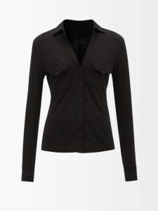 Chloé - Contrast Stitch Straight Leg Trousers - Womens - Red