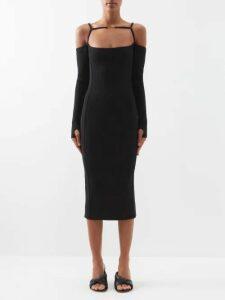 Chloé - Python-jacquard Ruffle-hem Top - Womens - Red Print