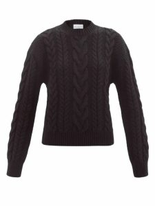Givenchy - Contrast-panel Skinny Leather Cropped Trousers - Womens - Orange