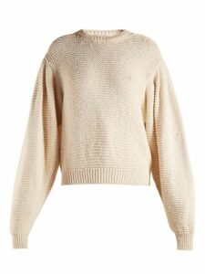 Stella Mccartney - Round Neck Dropped Shoulder Sweater - Womens - Ivory