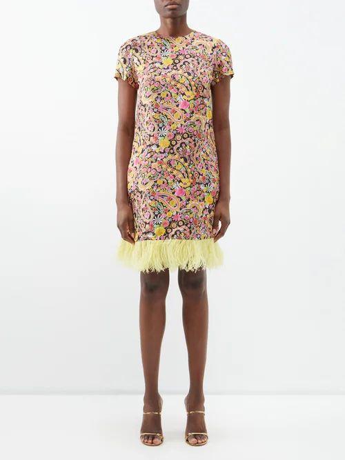 Moncler - Badyfur Nylon Quilted Jacket - Womens - Navy