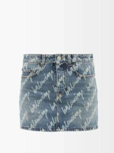 Chloé - Tiered Mousseline Blouse - Womens - Black