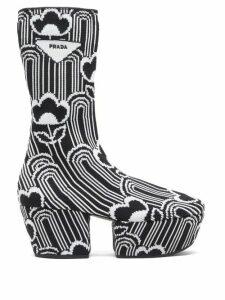Prada - Morocaine Primrose Floral-print Silk Dress - Womens - Multi