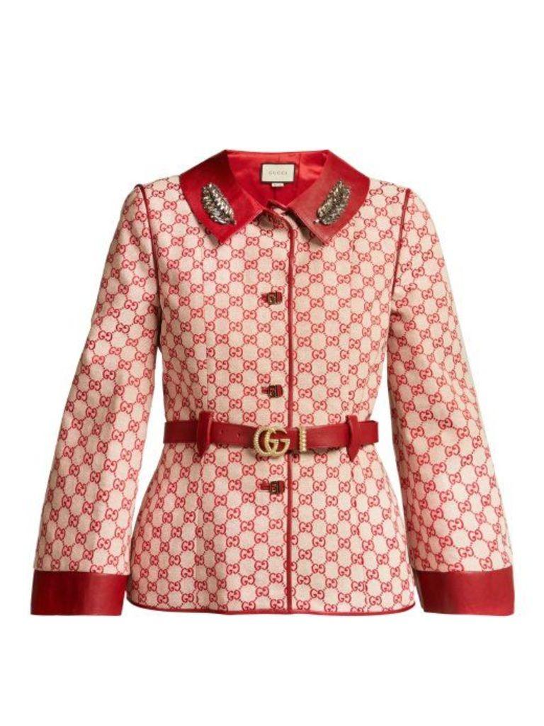 Gucci - Gg Supreme Canvas Jacket - Womens - Red Multi