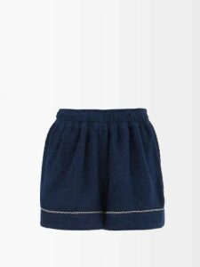 Erdem - Valary Floral-jacquard Cropped Trousers - Womens - Black Multi