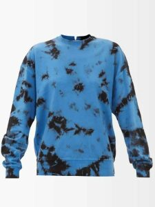 Diane Von Furstenberg - Pleated Stretch Cotton Trousers - Womens - Burgundy