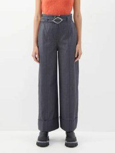 Tibi - Stella Wide-leg Trousers - Womens - Dark Pink