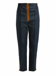 Hillier Bartley - Zipper Trimmed High Rise Jeans - Womens - Denim