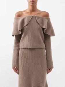 Jw Anderson - Smocked-bodice Gathered Dress - Womens - Black