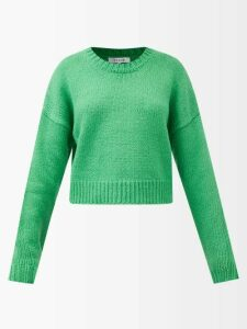 Balenciaga - Ribbed-knit Roll-neck Hooded Sweater - Womens - Pink