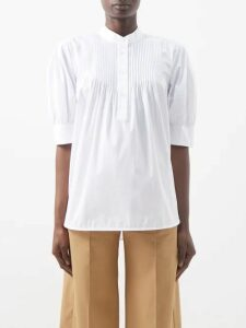 Stella Mccartney - Lace Up Shoulder Cashmere Blend Sweater - Womens - Khaki