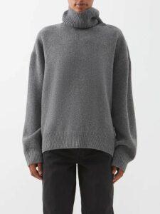 A.w.a.k.e. Mode - Checked Wool Blend Top - Womens - Grey