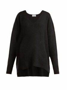 Raey - V-neck Ribbed Cashmere Sweater - Womens - Black