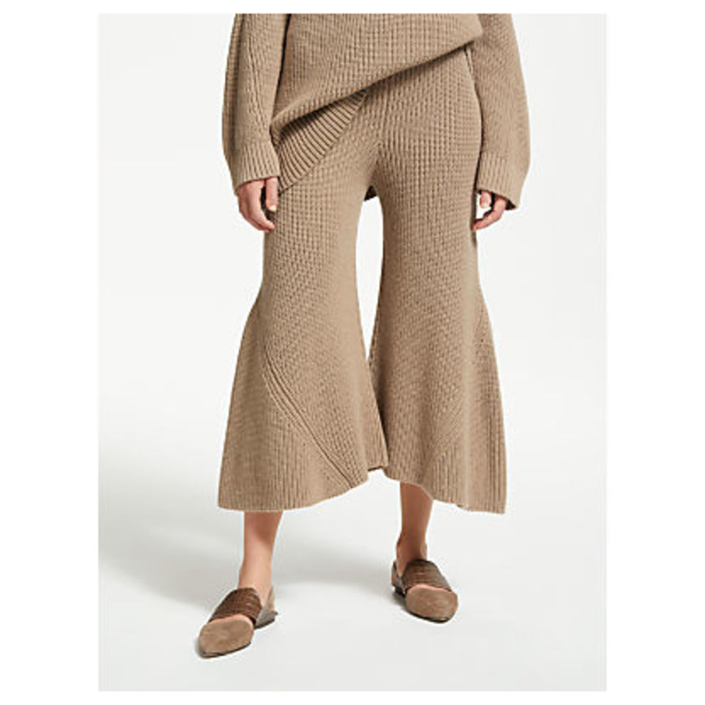 Modern Rarity J. JS Lee Rib Knitted Trousers, Camel