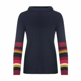 Navy Striped Sleeve Jumper