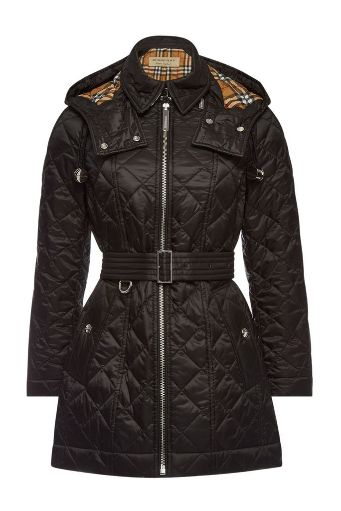 Burberry Baughton Quilted Jacket with Detachable Hood