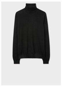 Women's Black Wool Roll-Neck Sweater