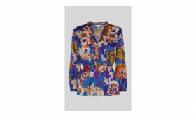 Autumn Bloom Devore Blouse