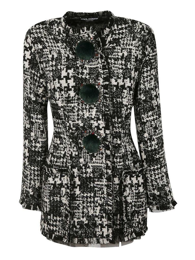 Dolce & Gabbana Pom-pom Detailed Jacket