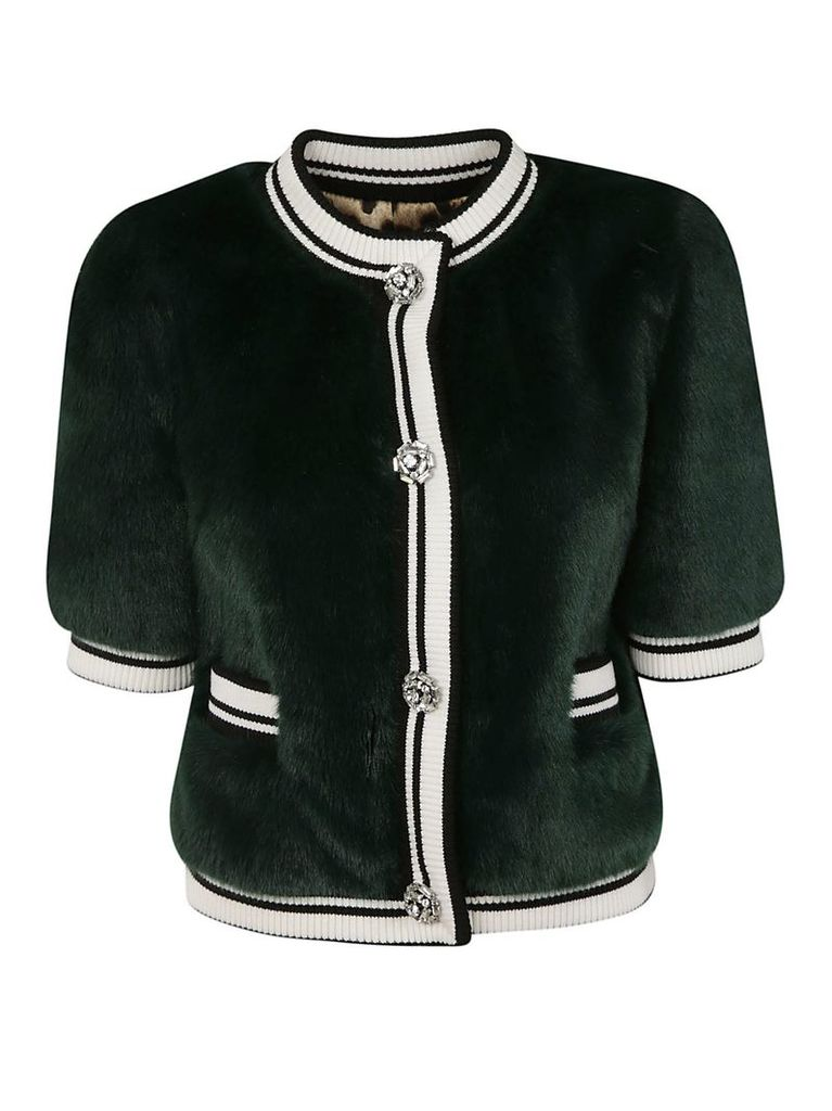 Dolce & Gabbana Fur Detailed Cropped Jacket