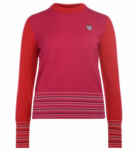 Kenzo Pink And Red Roundneck Jumper