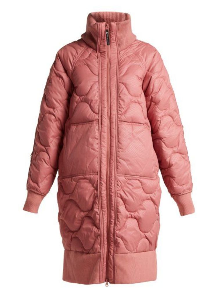 Adidas By Stella Mccartney - Scale Print Quilted Jacket - Womens - Pink