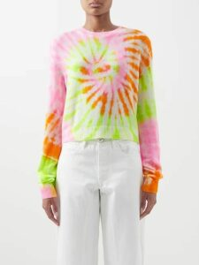 Balenciaga - Intarsia Logo Wool Blend Sweater - Womens - Red