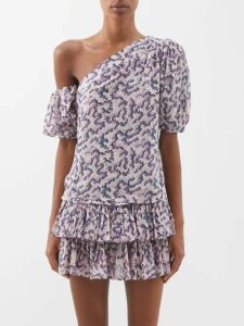By Walid - Nil Antique Silk Blouse - Womens - Pink Multi