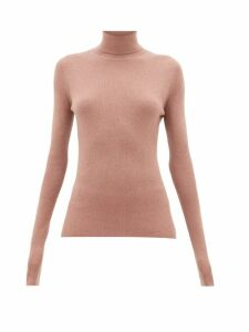 Raey - Roll-neck Fine-rib Cashmere Sweater - Womens - Pink
