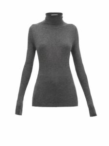 Raey - Roll-neck Fine-rib Cashmere Sweater - Womens - Charcoal