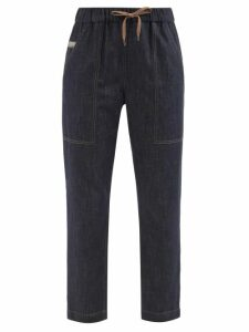 Christian Louboutin - Boat Sequin Embellished Slip On Trainers - Womens - Black Gold