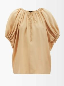 Christian Louboutin - Janitag 60 Liberty Print Flatform Sandals - Womens - Blue Multi