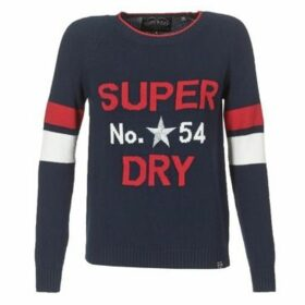 Superdry  VARSITY INTARSIA KNIT  women's Sweater in Blue