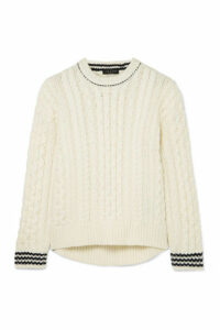 rag & bone - Brighton Cable-knit Wool Sweater - Ivory