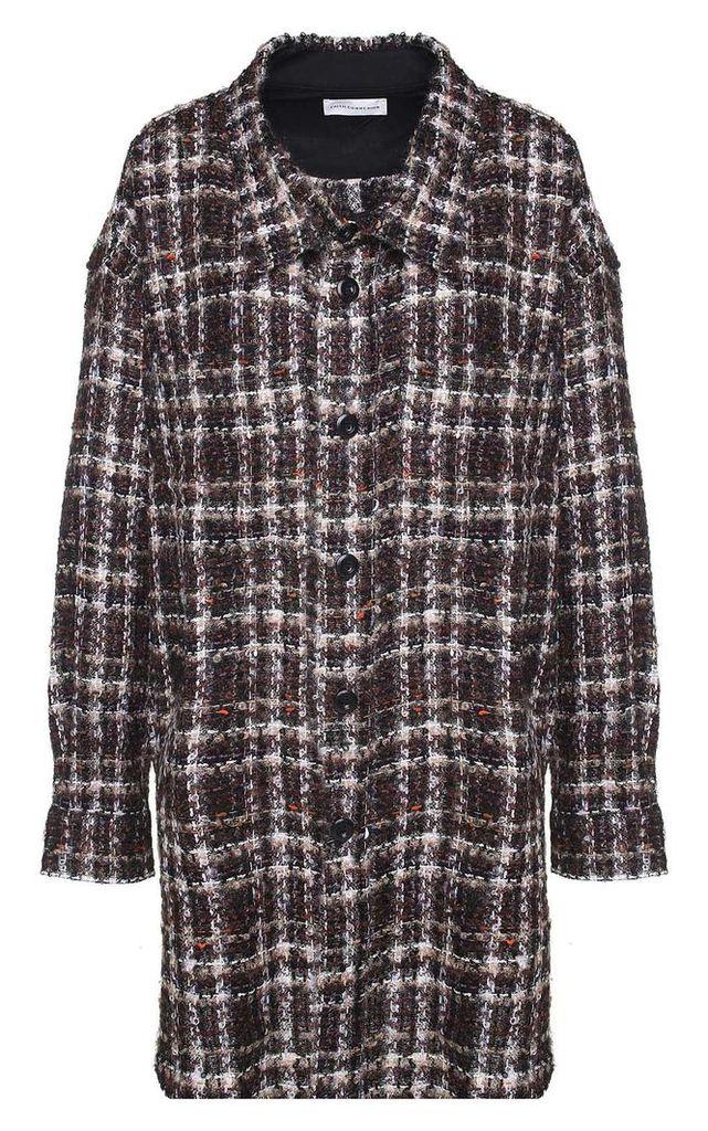 Faith Connexion Oversized Tweed Wool-blend Jacket