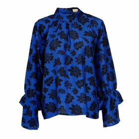 Asneh - Kitty Blue Silk Blouse