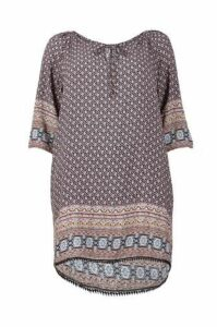 Curve Tribal Tunic Top