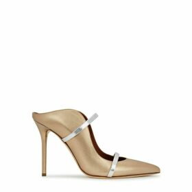 Malone Souliers Maureen 100 Bronze Leather Mules