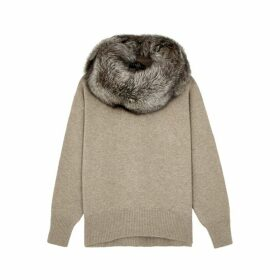 Dom Goor Fur-trimmed Wool-blend Jumper